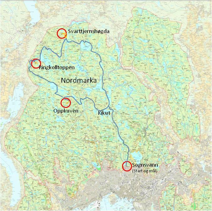 kart over sognsvann sykkeltopptur11.html kart over sognsvann